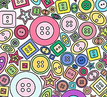 Colorful and cute buttons by Wedphoto