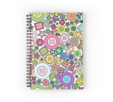 Colorful and cute buttons Spiral Notebook