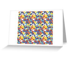 Abstract geometric pop-art Greeting Card
