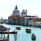 Grand Canal Venice, with Chiesa Della Salute and Peggy Guggenheims&#x27; by artfulvistas