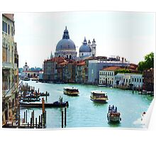 Grand Canal Venice, with Chiesa Della Salute and Peggy Guggenheims' Poster