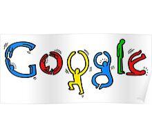 Google logo keith haring Poster