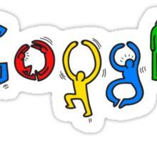 Google logo keith haring Sticker