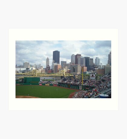 Baseball game at PNC Park Art Print