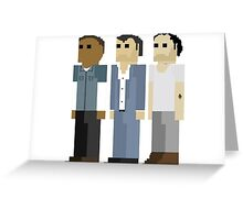 GTA V - 8-Bit Protagonists Trio Character Design Greeting Card
