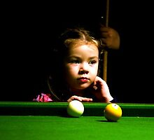 Girl by the Pool Table by moonlover