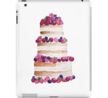 Sweet and tasty cake with berries iPad Case/Skin