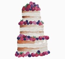 Sweet and tasty cake with berries One Piece - Long Sleeve