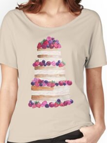Sweet and tasty cake with berries Women's Relaxed Fit T-Shirt