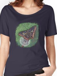 Butterfly & Dandelion Clock Women's Relaxed Fit T-Shirt