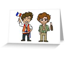 enjolras and grantaire Greeting Card