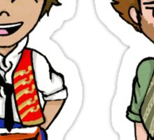 enjolras and grantaire Sticker
