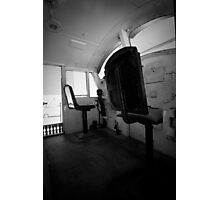 Chair in train Photographic Print
