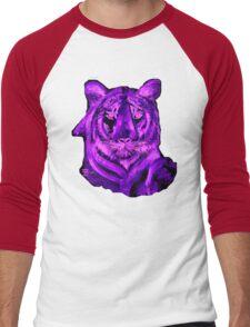 Purple tiger T SHIRT/STICKER Men's Baseball ¾ T-Shirt