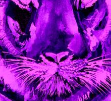 Purple tiger T SHIRT/STICKER Sticker