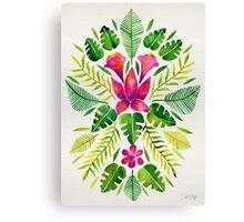 Tropical Symmetry – Pink & Green Canvas Print