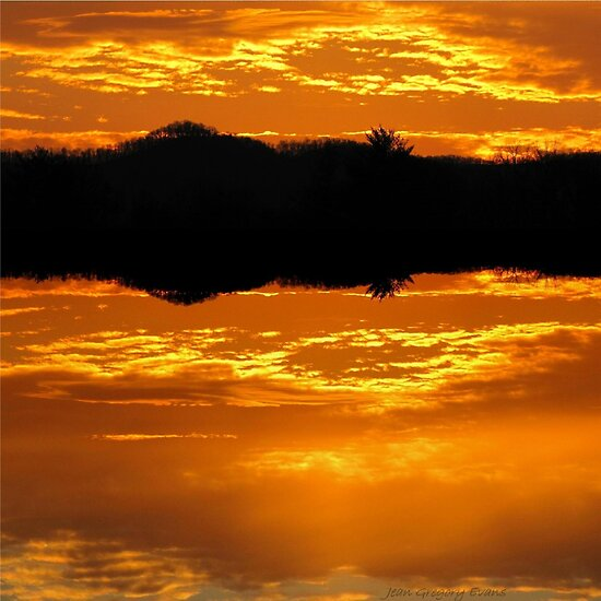 Molten Glow of Nightfall by Jean Gregory  Evans