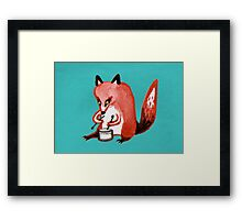 Drumming Fox Framed Print