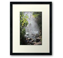 Crossing Hot Water Framed Print