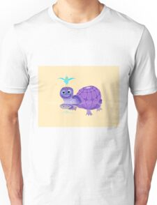 The Purple Turtle And A Bluebird Of Glee Unisex T-Shirt