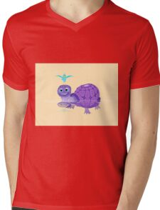 The Purple Turtle And A Bluebird Of Glee Mens V-Neck T-Shirt