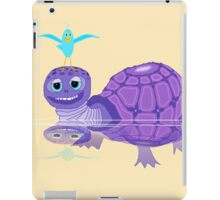 The Purple Turtle And A Bluebird Of Glee iPad Case/Skin