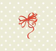 Curled Ribbon (Riband) and Bow - Red  by sitnica