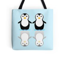PENGUIN PAIR ON ICE Tote Bag