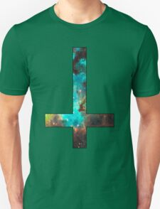 Green Galaxy Inverted Cross T-Shirt
