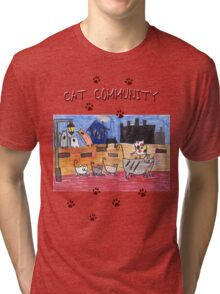 Cat community Tri-blend T-Shirt