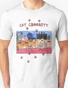 Cat community Unisex T-Shirt