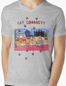 Cat community Mens V-Neck T-Shirt