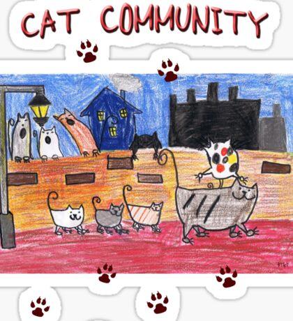 Cat community Sticker