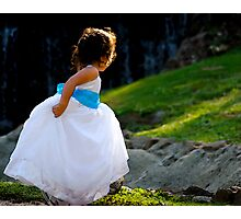 A Playful Flowergirl Photographic Print