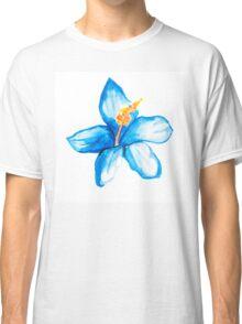 Blue hibiscus flower Classic T-Shirt