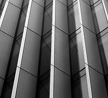 Vertical lines - windows of a building in London by sarboo