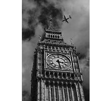 Aeroplane and Big Ben - London Photographic Print