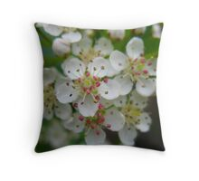 Blooming Floral Architecture Throw Pillow