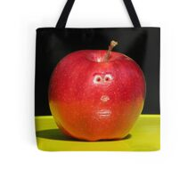 RED APPLE FACE Tote Bag