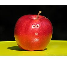 RED APPLE FACE Photographic Print