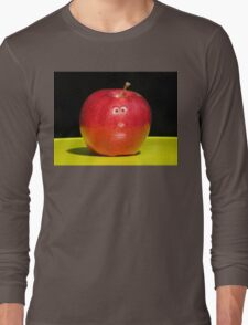 RED APPLE FACE Long Sleeve T-Shirt