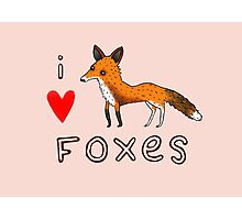 Fox Love Photographic Print