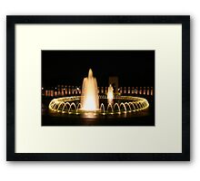 WWII Memorial in Washington DC Framed Print