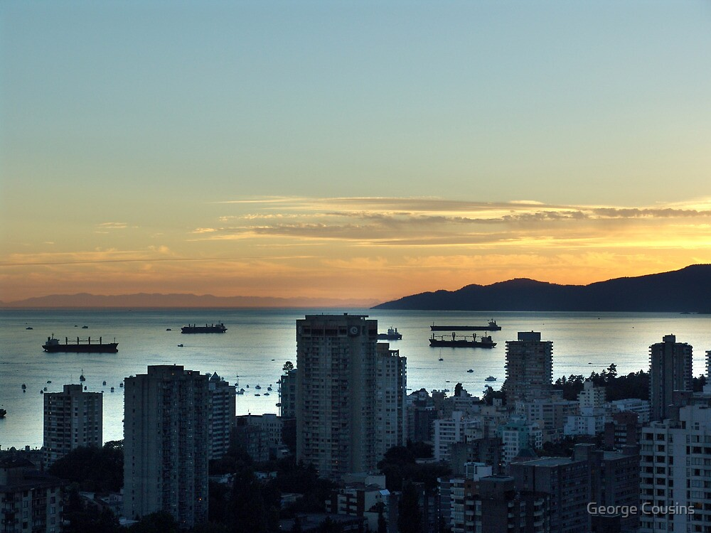 Downtown Vancouver and English Bay by George Cousins
