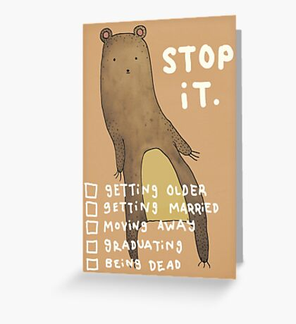 Stop It Greeting Card