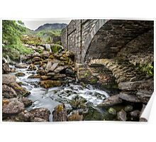 Old Packhorse Bridge  Poster