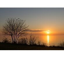 Calm, Sunny and Peaceful - a Lake Shore Daybreak Photographic Print
