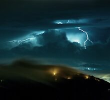 Lightning at Buzzard's Rock by Spencer Black