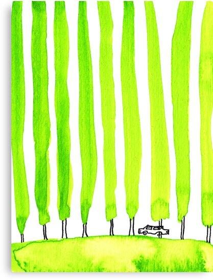 Enthusiastic cypress by JannaKool
