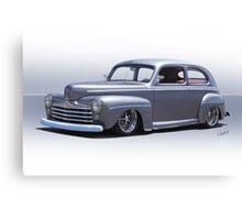 1947 Ford 'Rod and Custom' Sedan 1 Canvas Print